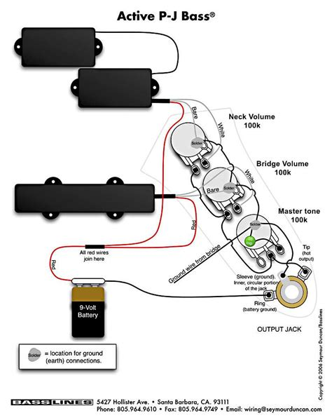 emg active pj b wiring diagram active