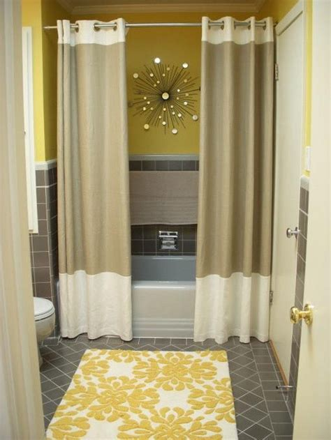 Bathroom Installing Bathroom Curtain Ideas For Prettier