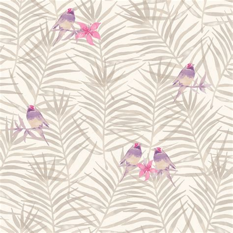 leaf pattern motif rasch paradise palm leaf pattern tropical bird motif