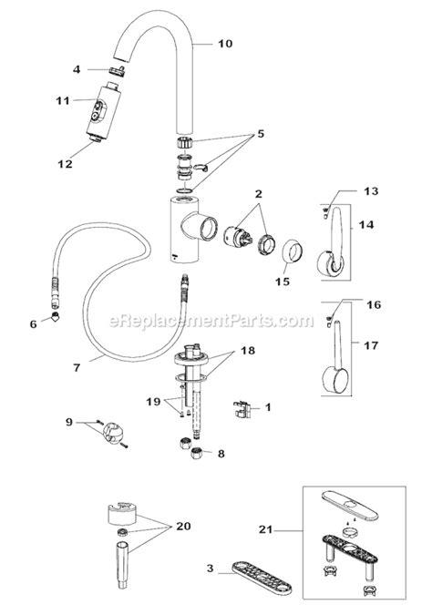 Delta Plumbing Parts Replacement by Delta Kitchen Faucet Repair Diagram