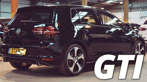 black volkswagen gti 2016 volkswagen golf gti mk7 black walk around 2 0 tsi