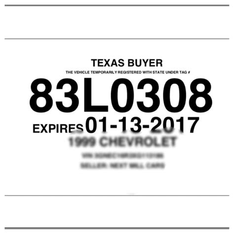 Texas Buyer Temporary License Plate Pictures To Pin On Pinterest Thepinsta Temporary License Plate Template
