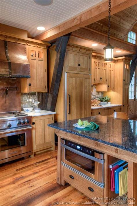 Timber Kitchen Designs Log Home Kitchens Pictures Design Ideas