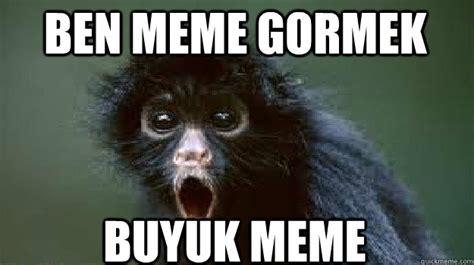 Sexy Monkey Meme - ben meme gormek buyuk meme monkey see big boobs