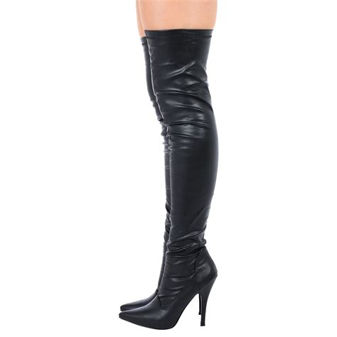 womens thigh high the knee zip up boots high