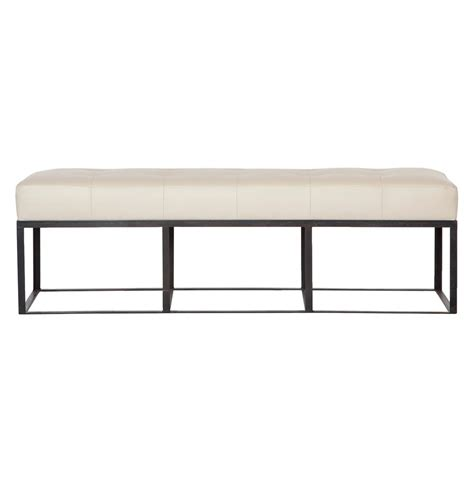 leather benches modern cisco brothers cruz modern classic ivory leather 60 inch