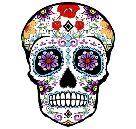 sugar skull sugar skull temporary 8x6cm by inkweartattoos on etsy