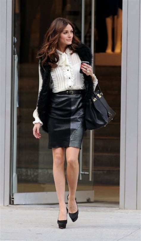 6 ways to wear a leather skirt