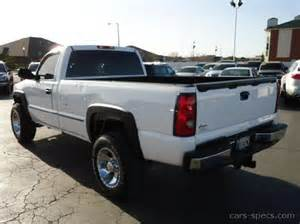 2001 gmc sierra 2500hd regular cab specifications