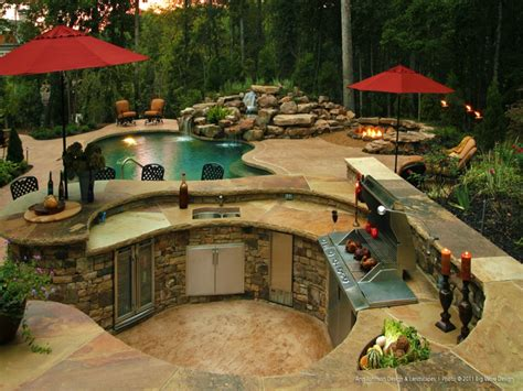 outdoor kitchen designs with pool top 15 outdoor kitchen designs and their costs 24h site
