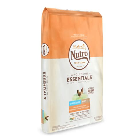 nutro wholesome essentials puppy nutro wholesome essentials large breed puppy farm raised chicken brown rice