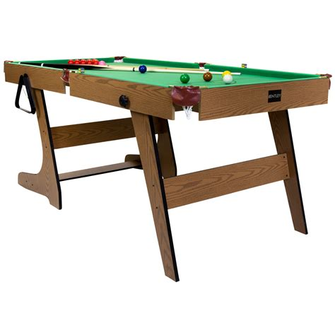 fold up pool premium 6ft pub style folding snooker and english pool table