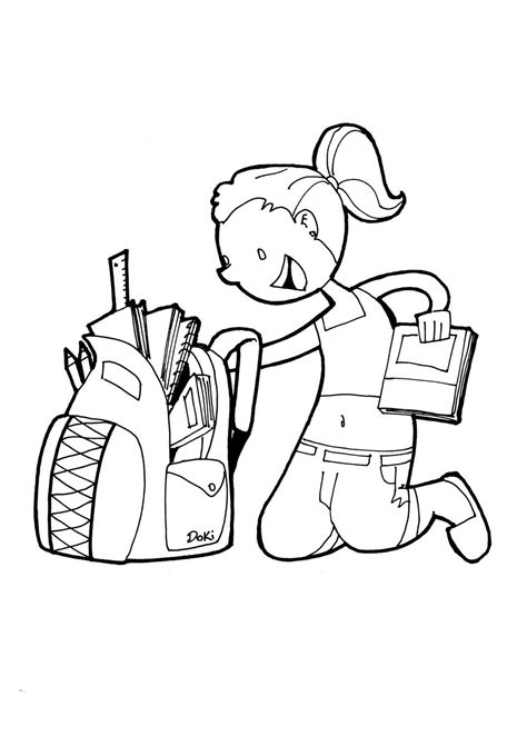 imagenes de reglamentos escolares para colorear dibujos para colorear de materiales escolares