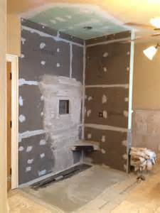 wedi shower system master renovation project