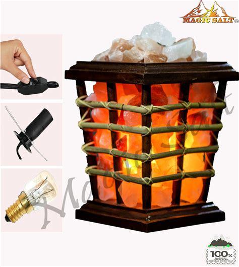 himalayan salt l basket himalayan salt chunks wood basket l air