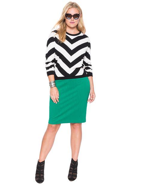 ottoman texture midi pencil skirt s plus size