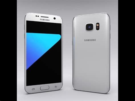 samsung white samsung galaxy s7 white 3d model