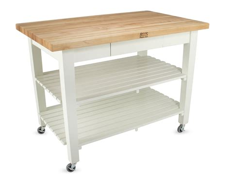 Kitchen Work Tables On Wheels Boos Classic Country Work Table Island Table