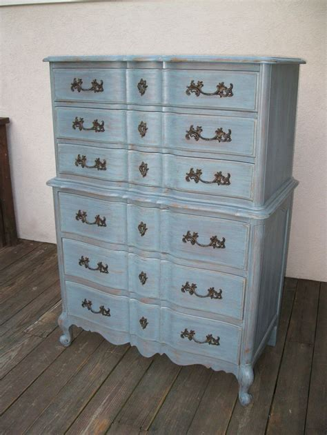 tall bedroom dresser chic and shabby blue grey tall dresser or bedroom set