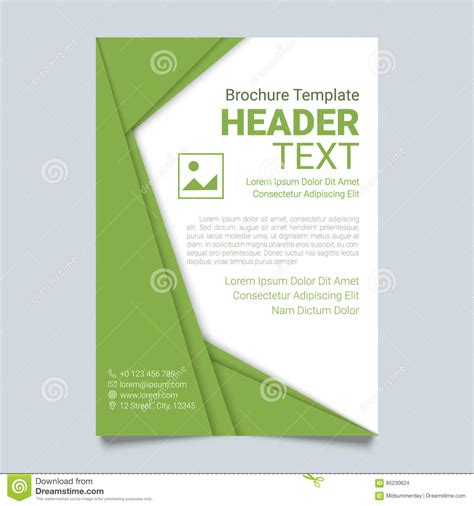 creative brochure vector template in green color modern