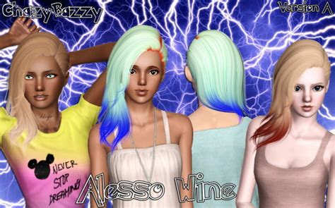 alesso wine alesso s wine hairstyle retextured by chazy bazzy sims 3