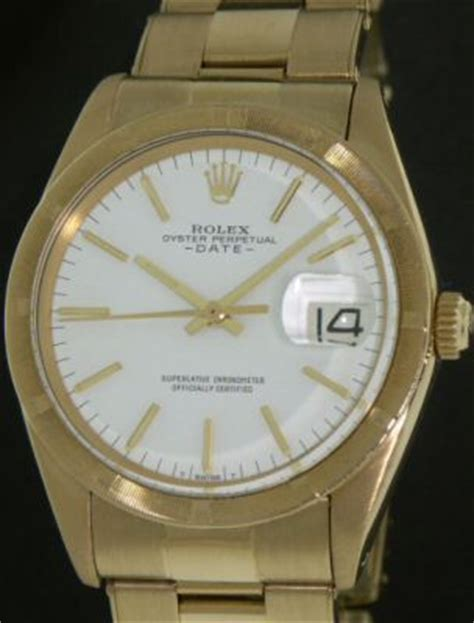 Swiss Army 1501 Time White rolex date 18kt solid gold 1501 pre owned mens watches