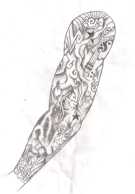 how to design a tattoo half sleeve simson