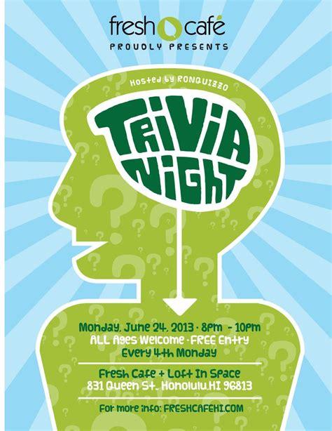trivia flyer template free trivia flyer trivianight flyer trivia