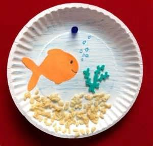 paper plate fish template paper plate fish bowl craft preschool items juxtapost