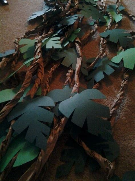 How To Make Jungle Vines Out Of Paper - 25 best ideas about jungle decorations on
