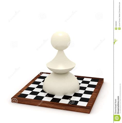 big pawn big pawn on chessboard stock image image 33982991