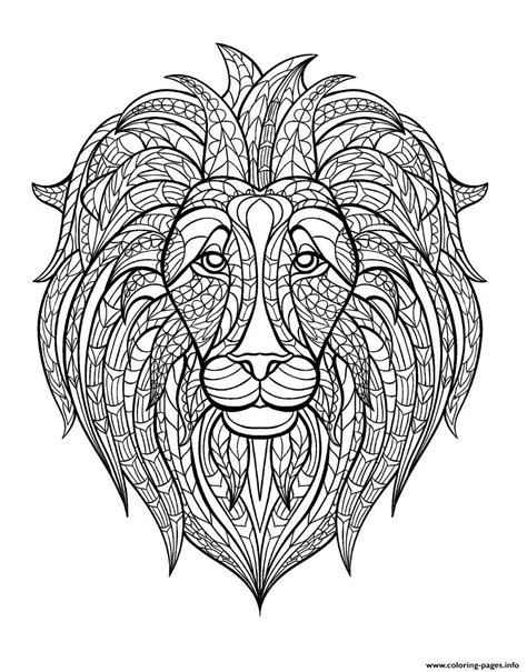 coloring page lion head adult lion head coloring pages printable