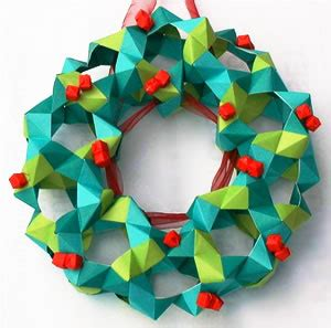 How To Make Origami Wreath - manitas origami