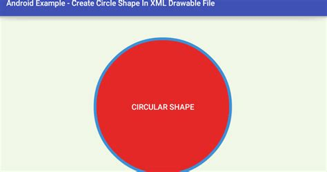 android shape android circle shape in xml drawable file