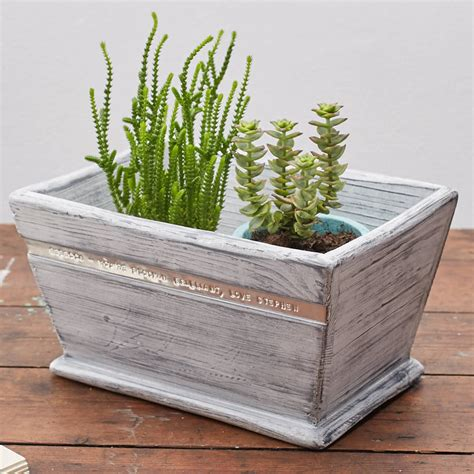 Personalised Planters by Personalised Wooden Planter By Warner S End