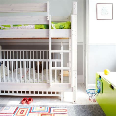 bunk bed with crib underneath 5 cool kids bedrooms with a toddler bed and a crib