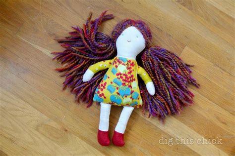 Handmade Doll Tutorial - tutorial simple doll with yarn hair for my