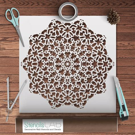 dekor schablone mandala style stencil for diy decor by stencilslabny on etsy