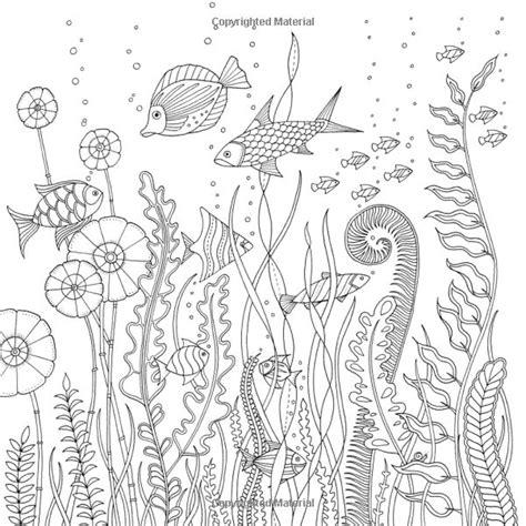 lost ocean  inky adventure  coloring book johanna