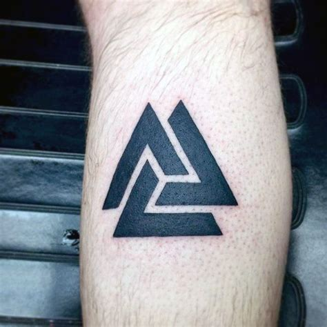 simple viking tattoo small simple mens black valknut tattoo on arm tattoos