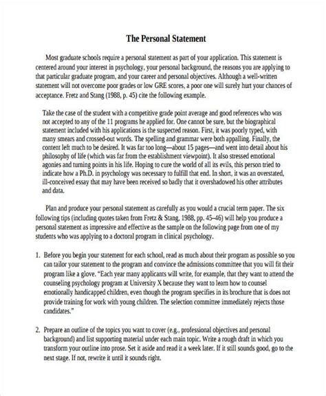 25 best personal statement sample images on pinterest sample