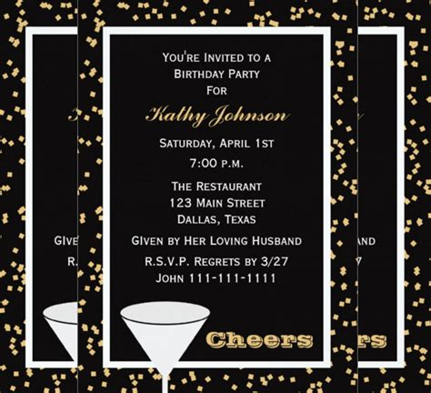 37 adult birthday invitation templates free sle