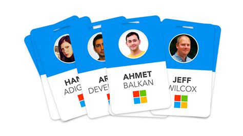 id card template for mac someone redesigned microsoft s employee badges to make