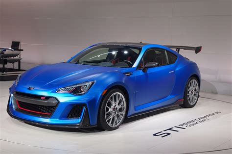 subaru street subaru brz sti performance concept debuts at new york auto