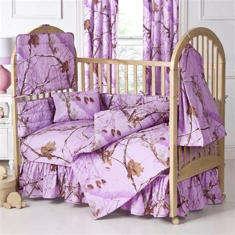 Camo Crib Sheets by Lavender Camo Baby Bedding