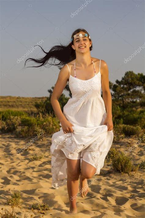 Dress Trunning running with white dress stock photo 169 membio 33924049