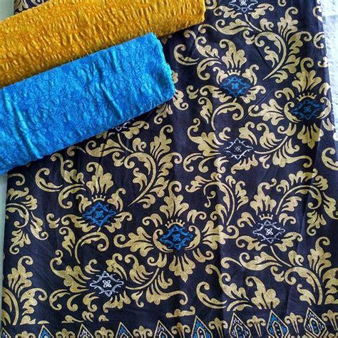 Kain Batik Prada Pekalongan Tanpa Embos 17 kain batik prada kombinasi embos p2 1 batik pekalongan