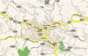boone carolina maps roadways elevation maps