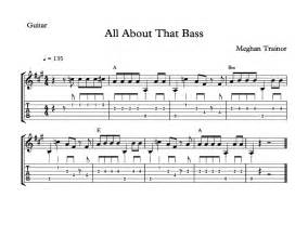 All about that bass free sheet music guitar amp piano