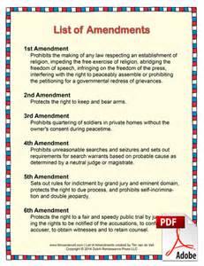 list of amendments pdf for students and teachers